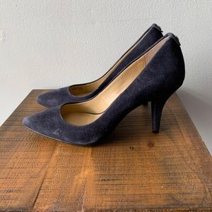 Michael by Michael Kors Navy Blue Suede Heels